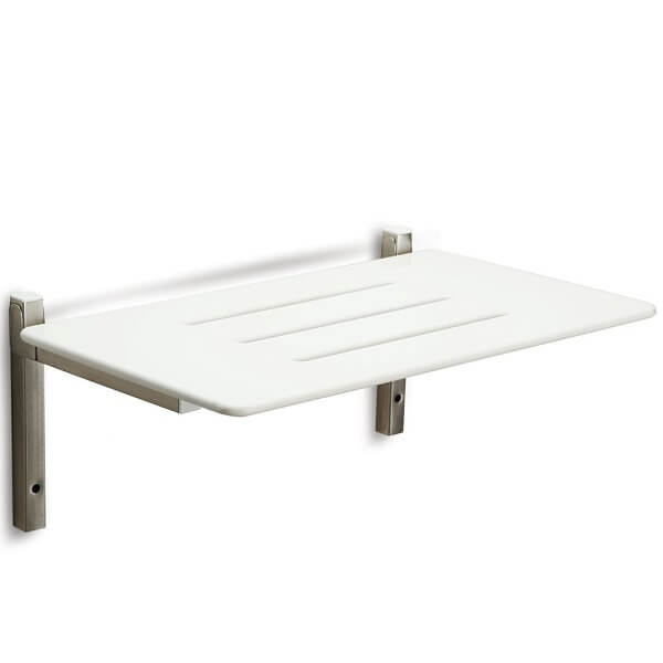 CAREQUIP Durable Stainless Steel Drop Down Shower Seat 600mm Length