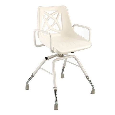 CAREQUIP Heavy Duty Bariatric Swivel Shower Chair 160kg