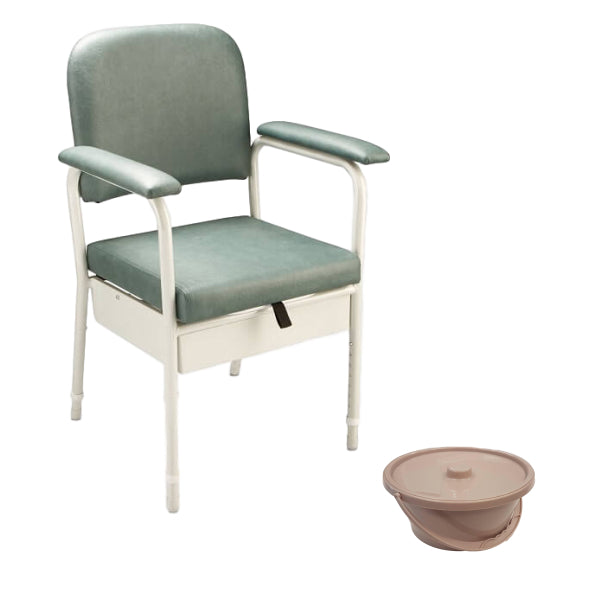 CAREQUIP Deluxe Bedside Commode