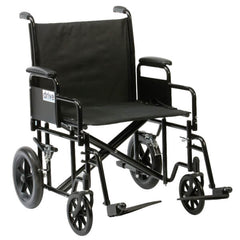 DRIVE Heavy Duty Bariatric Steel Transport Wheelchair BTR22BLKAU Main Image
