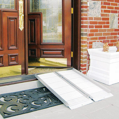 DRIVE Portable Folding Wheelchair Ramp 272kg at Front Doorsteps