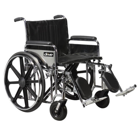 DRIVE Sentra Heavy Duty Bariatric Wheelchair with Elevating Legrests
