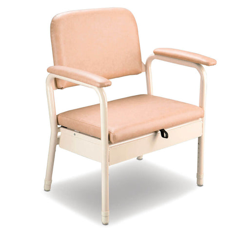 CAREQUIP Bariatric Deluxe Bedside Commode