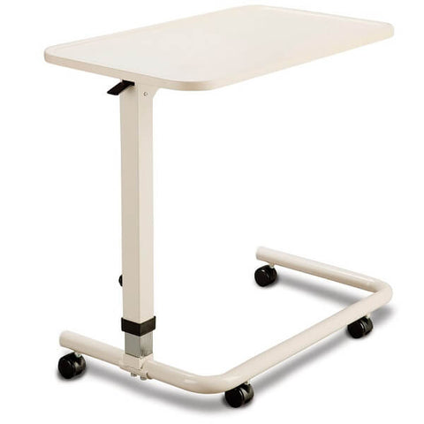 CAREQUIP Spring Loaded Overbed Table Height Adjustable