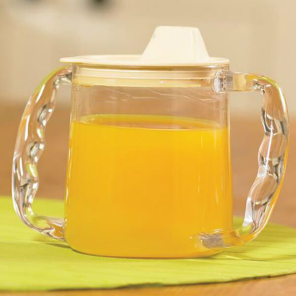 HOMECRAFT Caring Mug with Two Contoured Handles Orange Juice