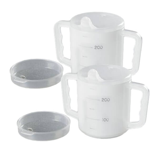 HOMECRAFT Two Handed Mugs with Sprout & Splash Lids 270ml