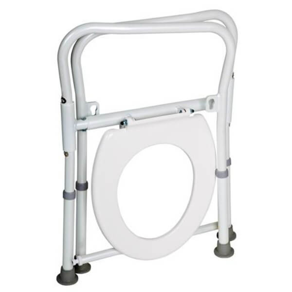Homecraft Aluminium Folding Over Toilet Aid Folded