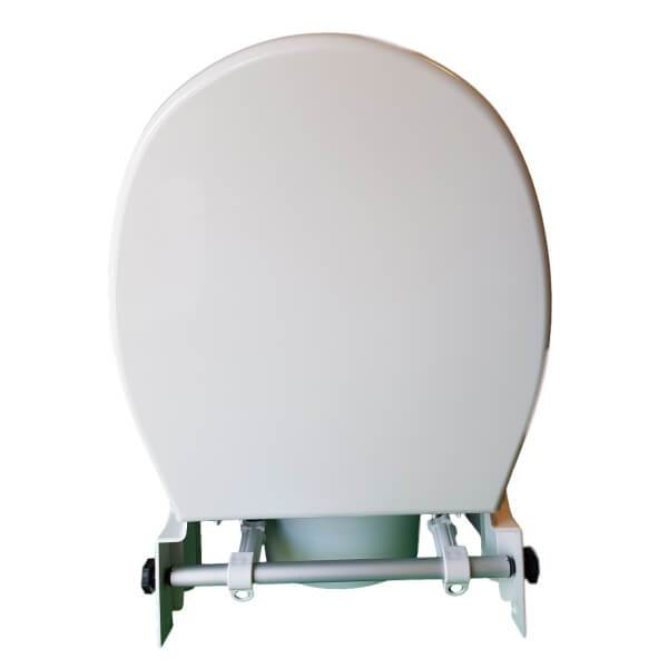 Homecraft Raised Toilet Seat Rear View Open