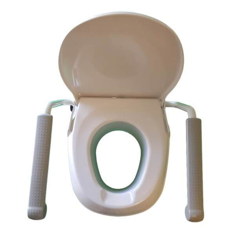 Homecraft Raised Toilet Seat with Arm Aerial View