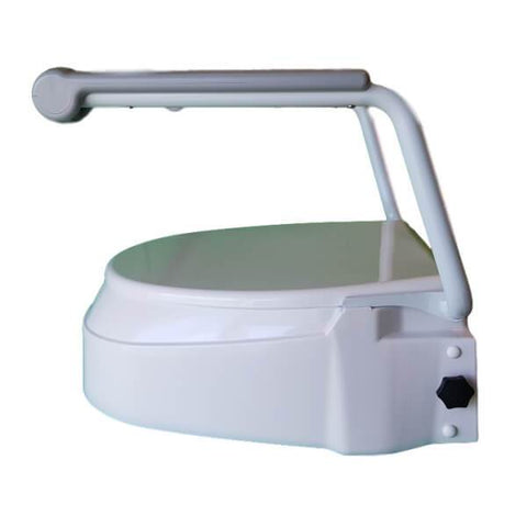 Homecraft Raised Toilet Seat with Arms Side View Closed