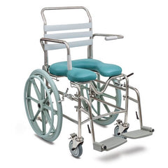 JUVO Bariatric Mobile Self Propelled Shower Commode