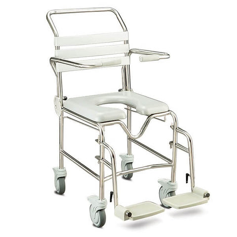 JUVO Bariatric Mobile Shower Commode Swingaway Legrests