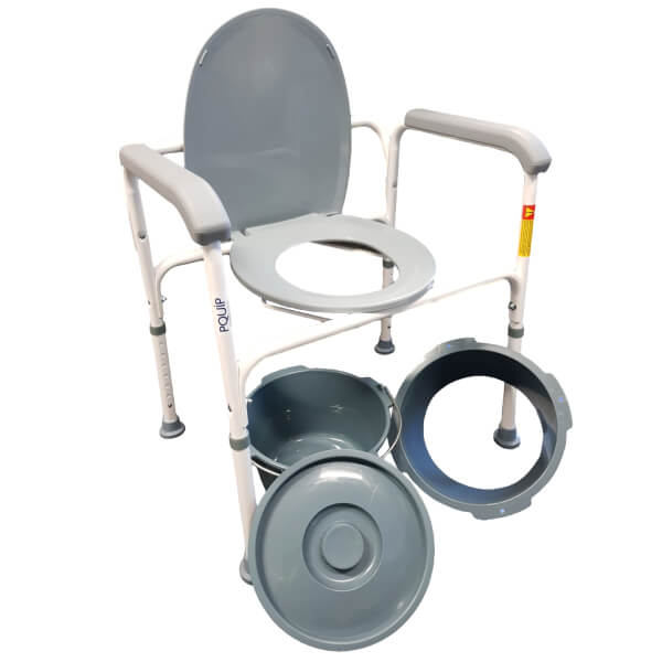 PQUIP Steel Bedside Commode Adjustable RCM0102 Main