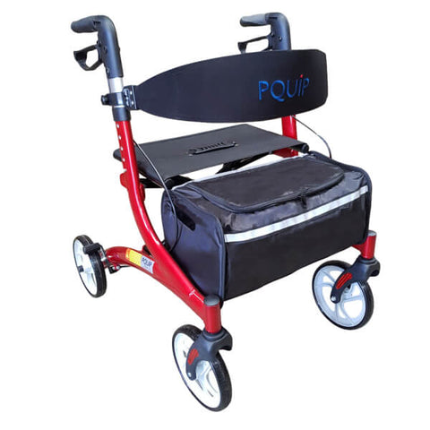 "PQUIP Euro X-Fold Heavy Duty Outdoor Walker 8"" Wheels"