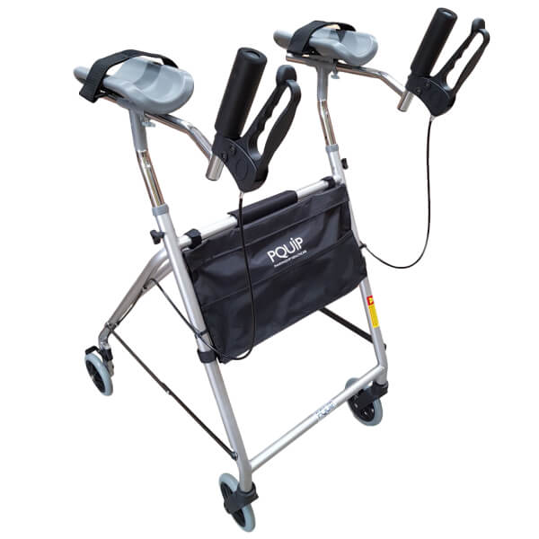 PQUIP Heavy Duty Bariatric Steel Gutter Arm Walker 160kg