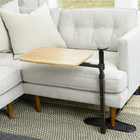 STANDER Omni Swivel Tray Bamboo Table Under Couch
