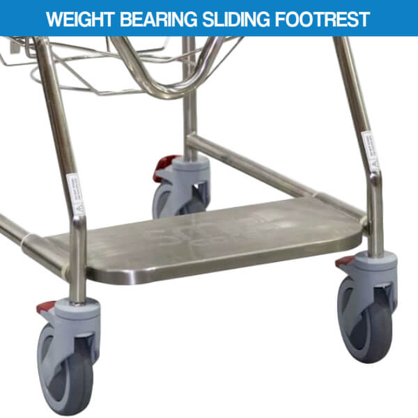 Smik Care Shower Commode Weight Bearing Sliding Footrest