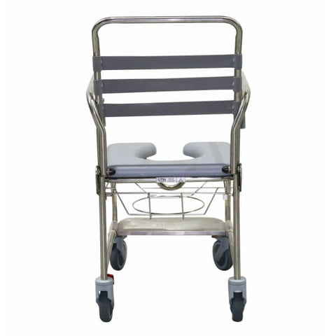Smik Care Shower Commode on Wheels Rear View