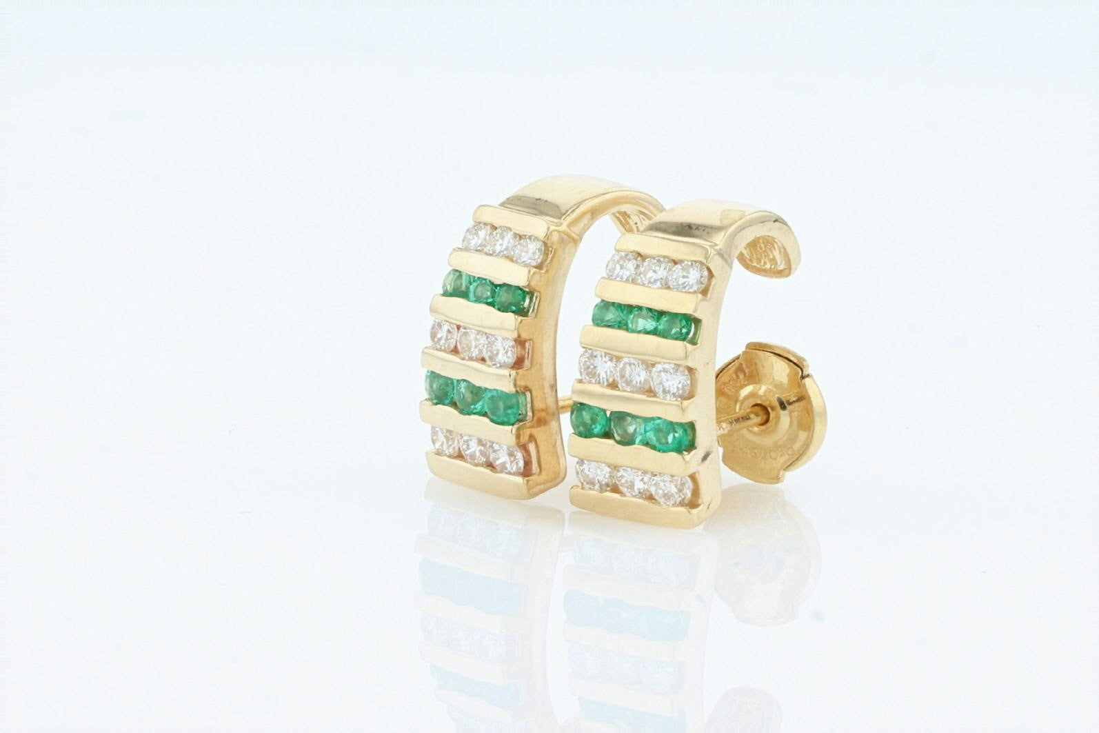 18K Women's Yellow Gold (Stamped) & 14K Yellow Gold Earrings