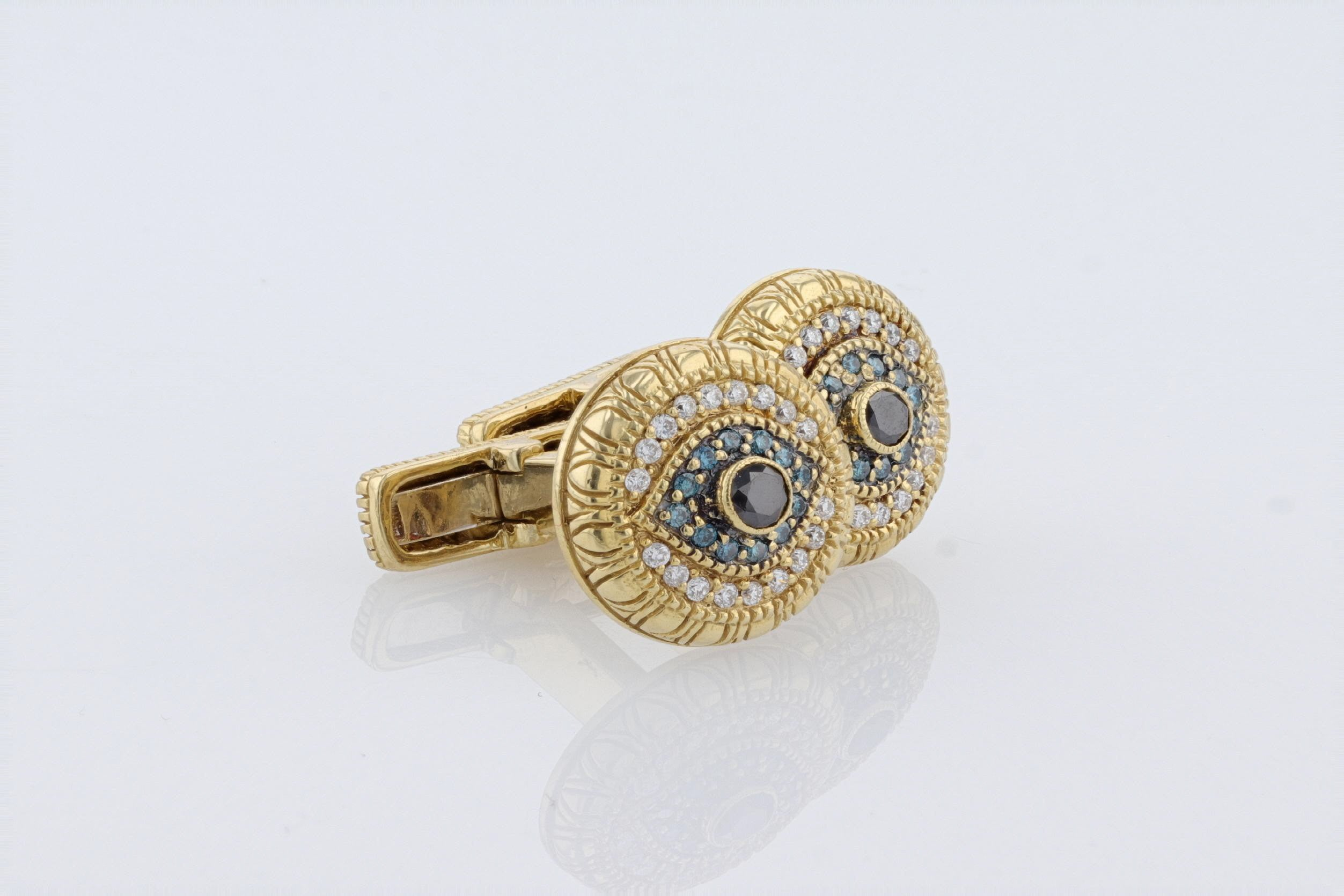 18K Yellow Gold (Stamped) Dress Cuff links