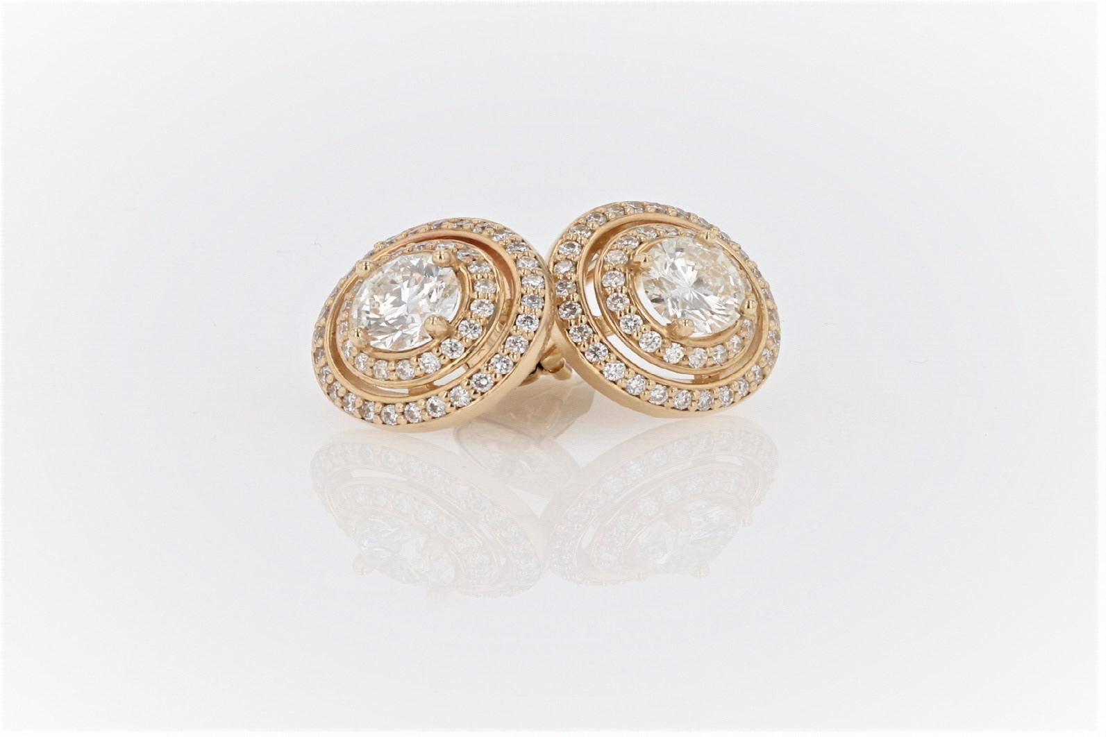 14K Women's Gold (Stamped) Dress Ear Studs