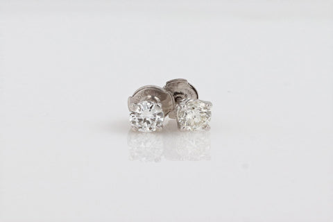 18K Women's White Gold (Stamped) Dress Ear Studs