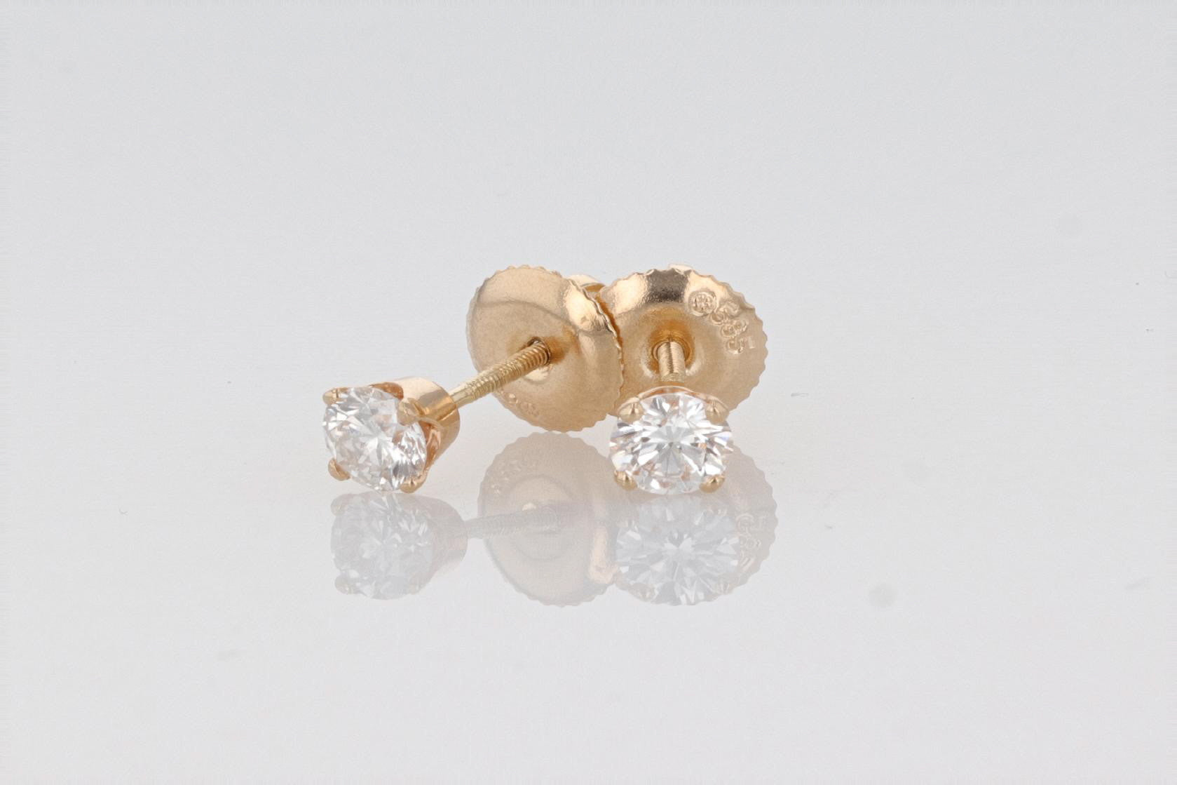 14K Women's Yellow Gold (Stamped 585) Studs