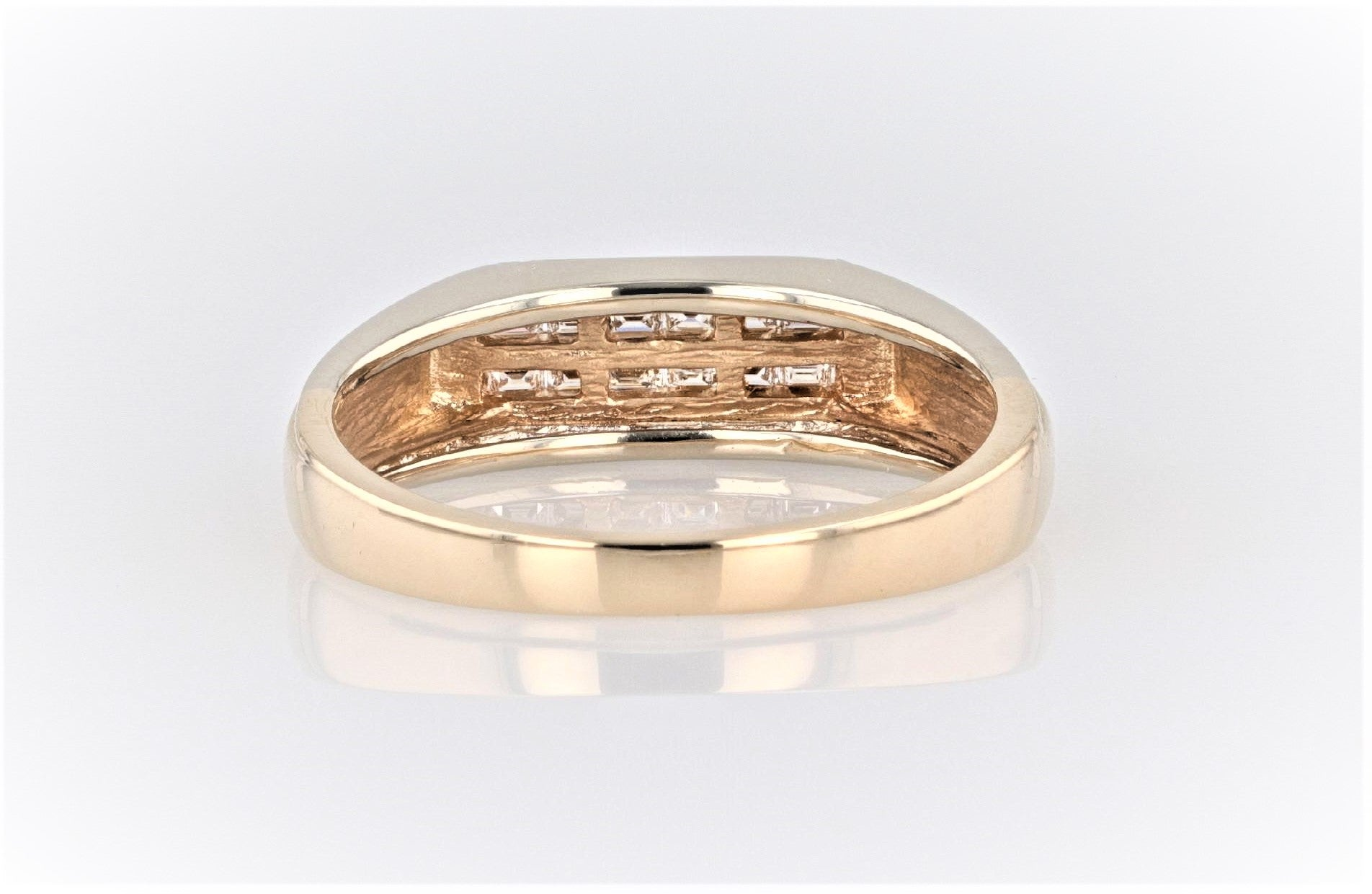 10K Men's Yellow Gold (Stamped) Shank Dress Ring