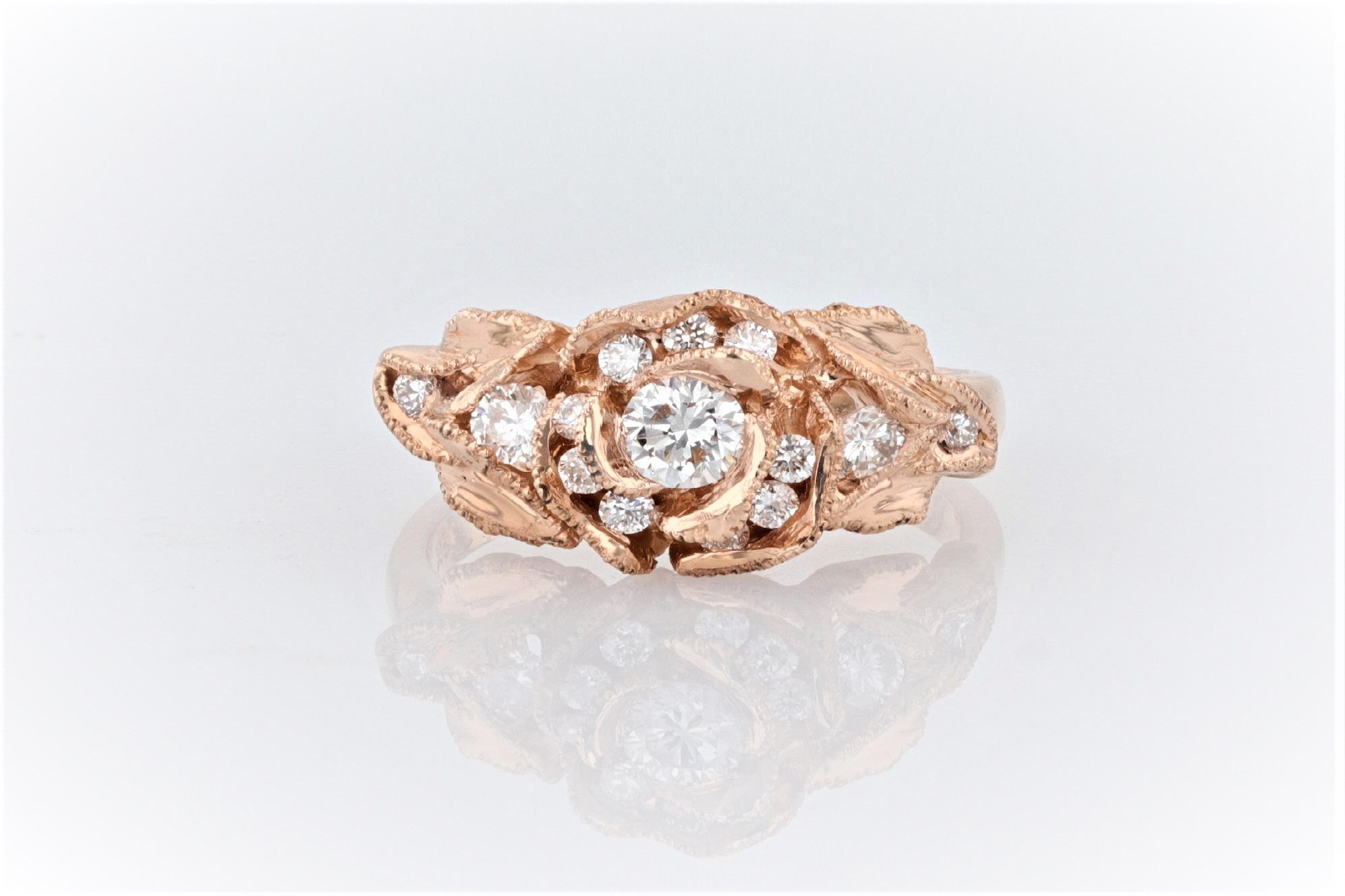 18K Women's Rose Gold (Stamped) Shank Dress Ring