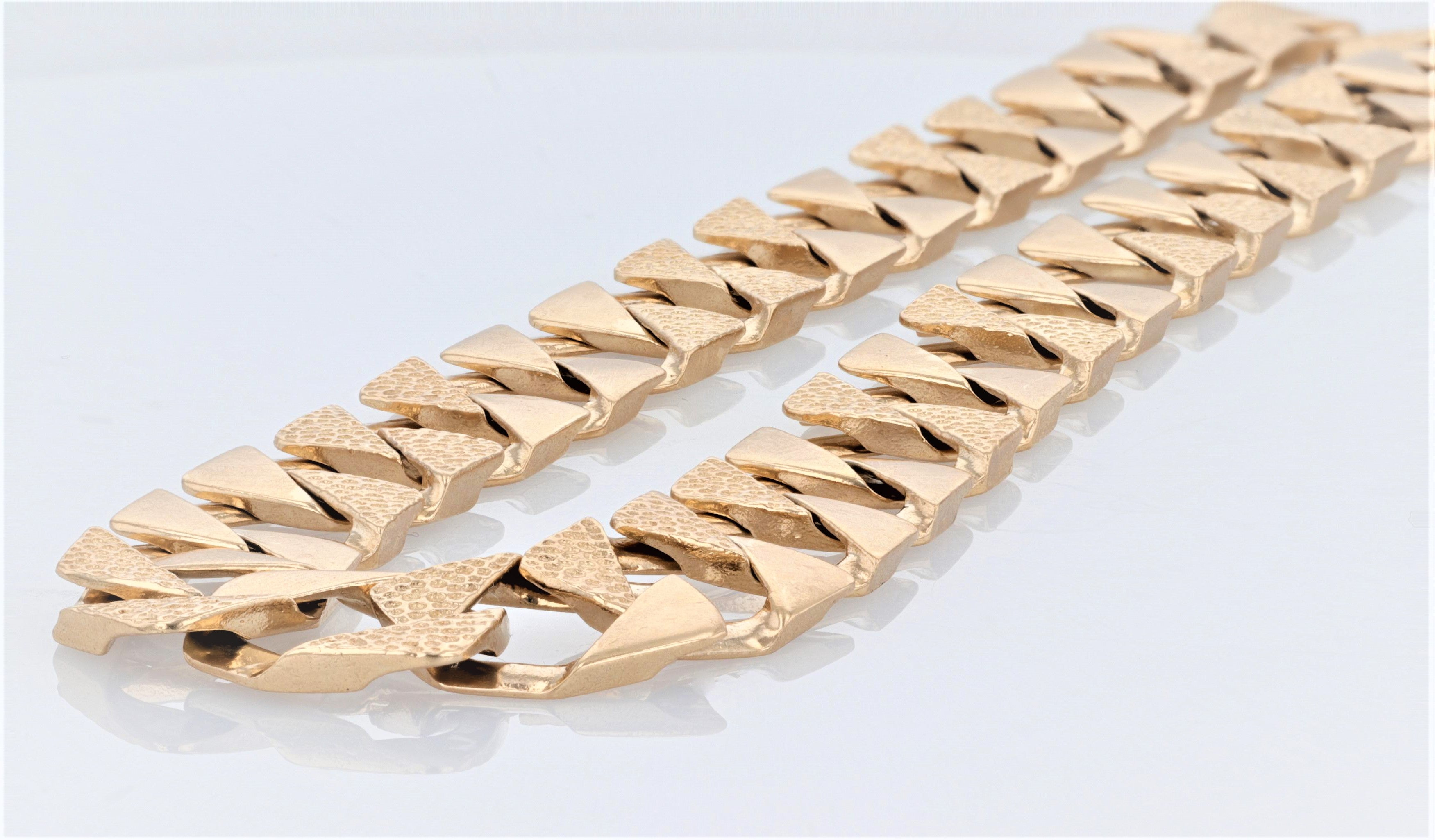 10K Men's Yellow Gold (Stamped) 26 inch Cuban Link Dress Chain