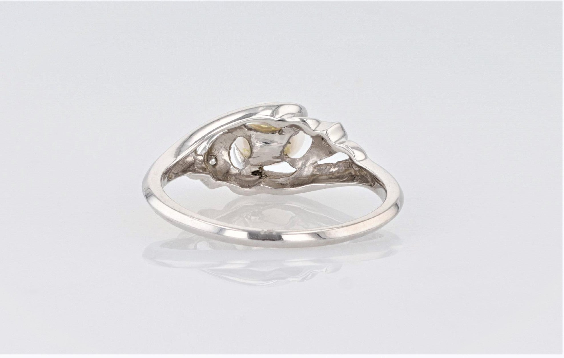 14K Women's White Gold shank Dress Ring