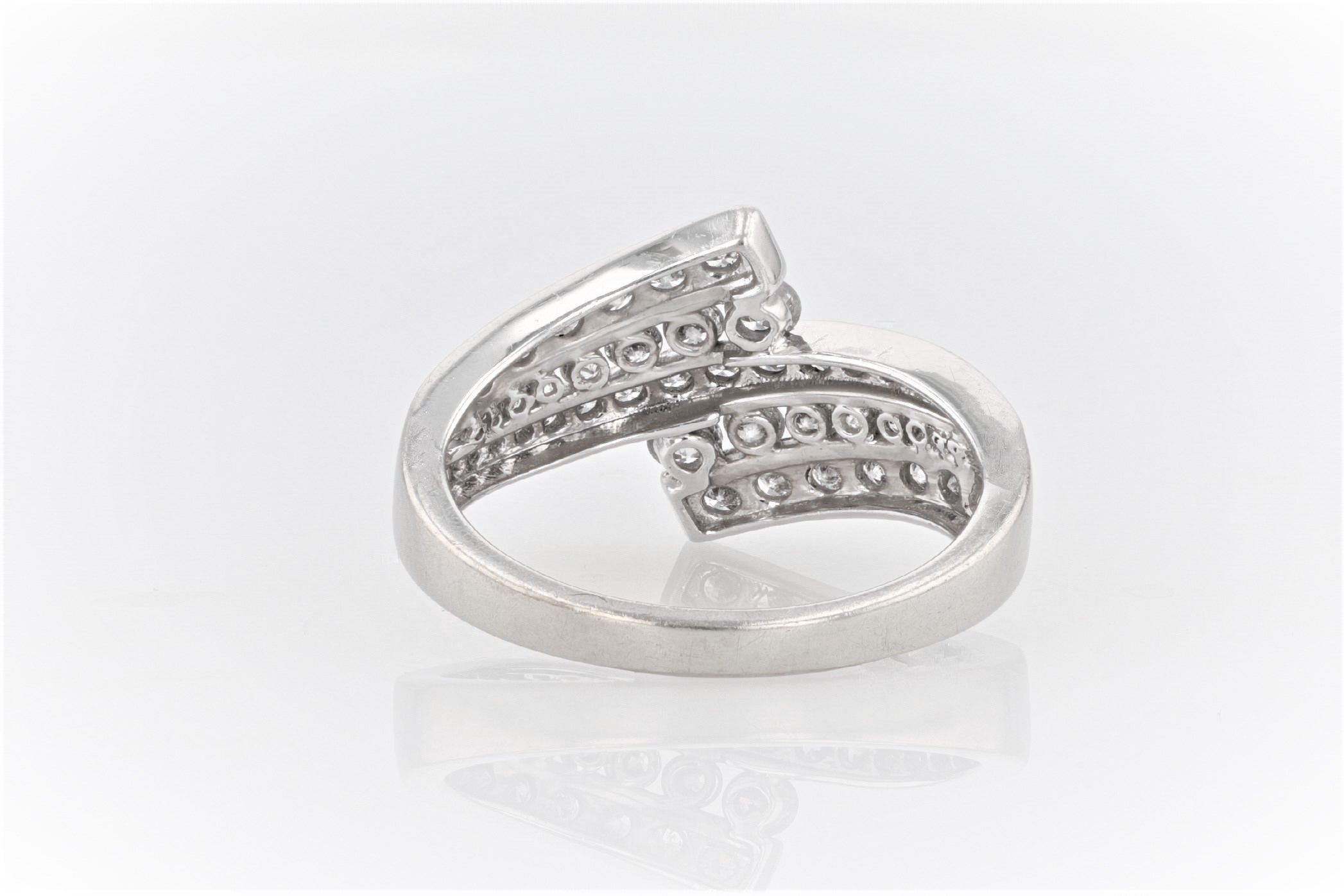 10K Women's White Gold (Stamped) Shank Dress Ring