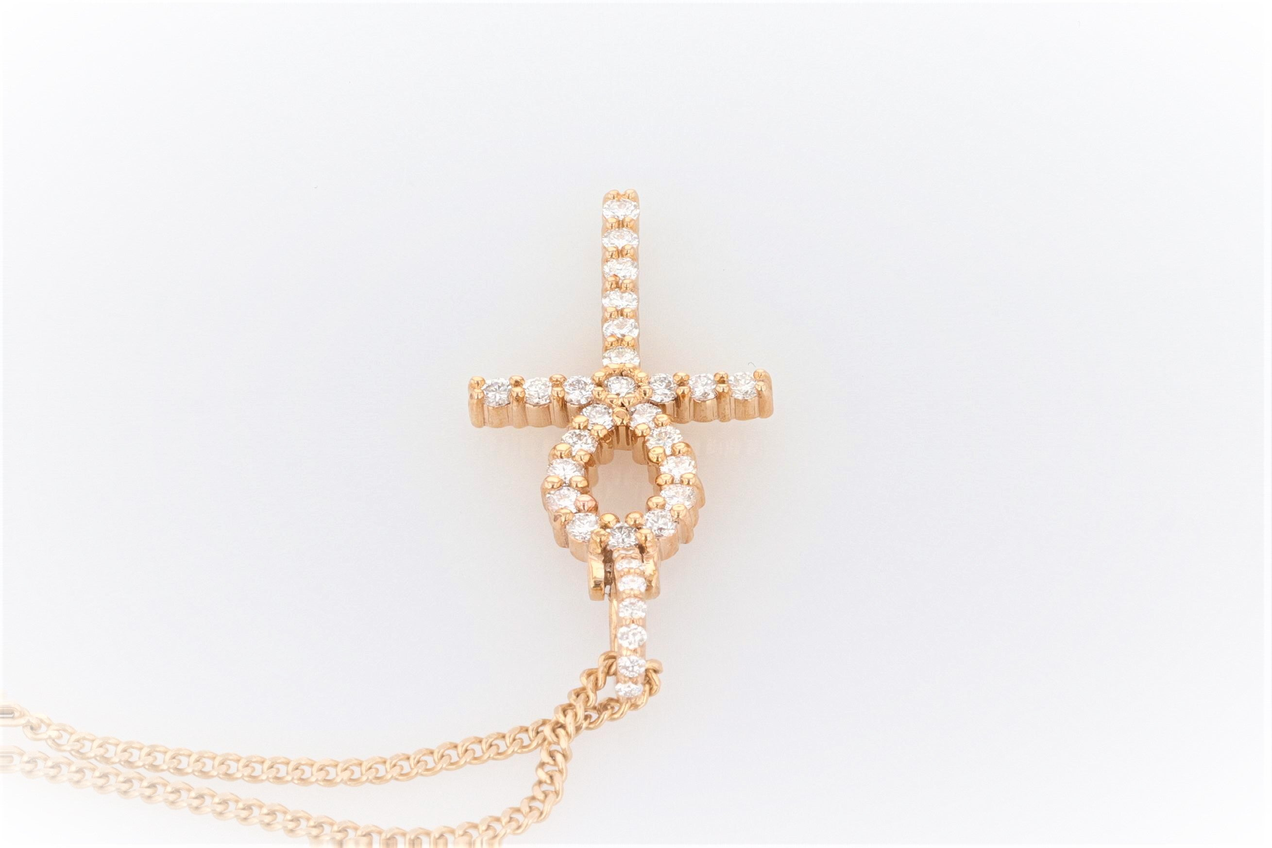 14K Women's Yellow Gold (Stamped) 'ANKH' Pendant