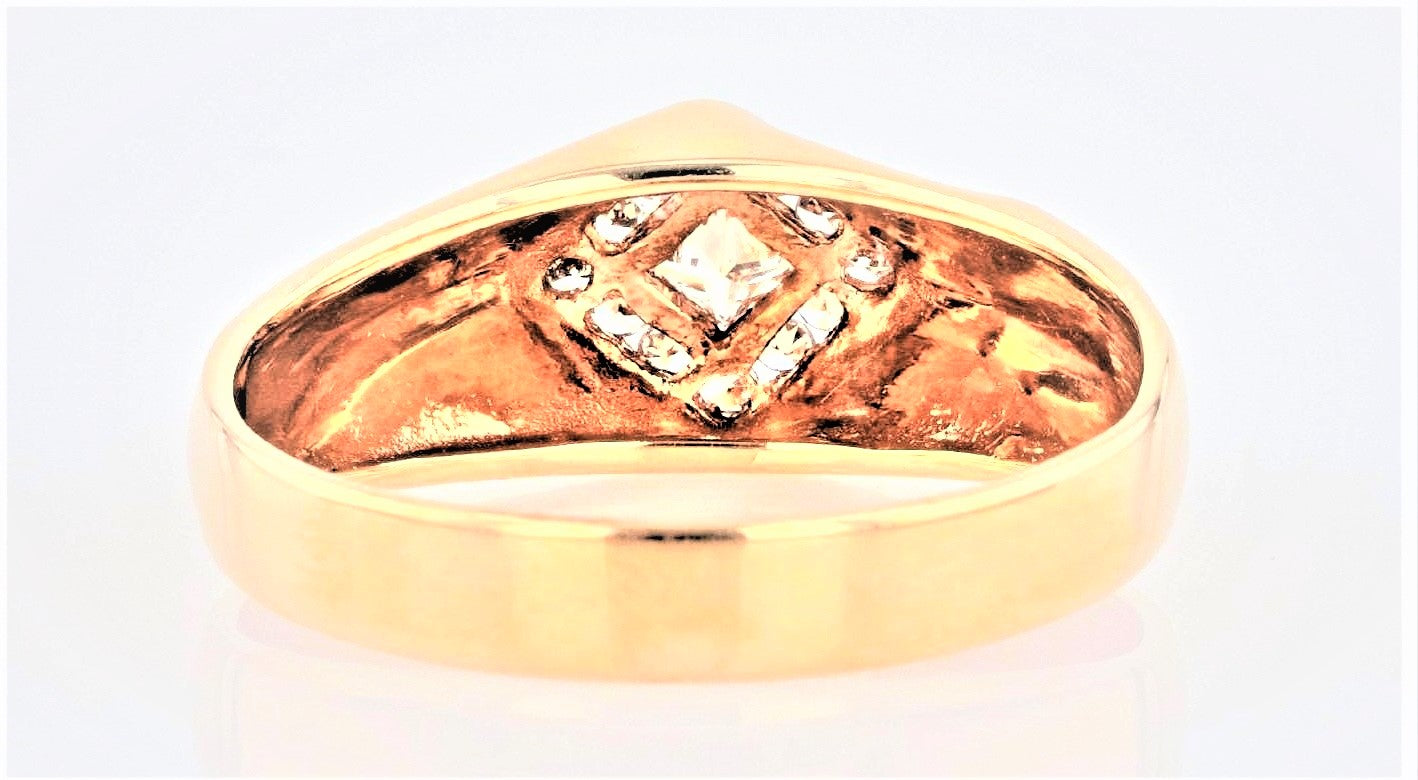 14K Men's Yellow Gold (Stamped) shank Dress Ring