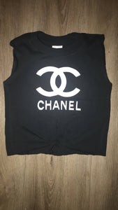 Chanel Logo Front Knot Top