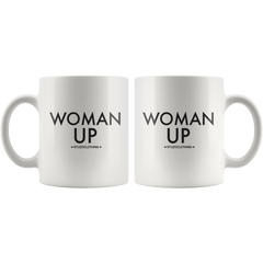 WOMAN UP MUG WHITE
