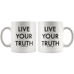 LIVE YOUR TRUTH MUG WHITE