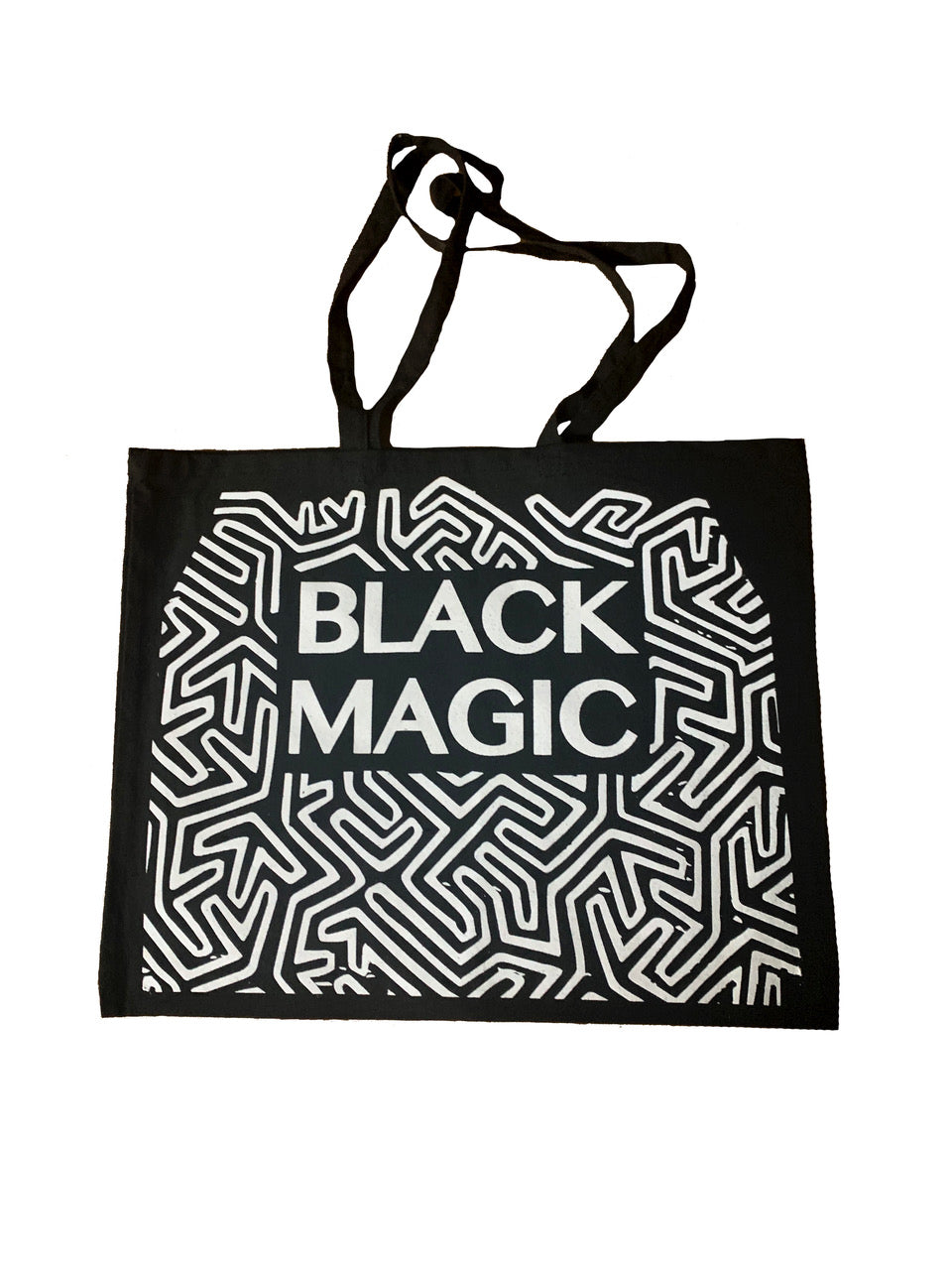 BLACK MGAIC TOTE BAG