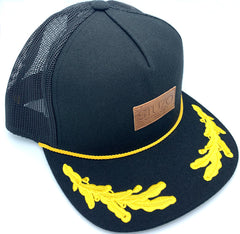 CAPTAIN MESH SNAPBACK - BLACK