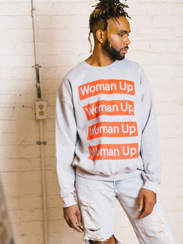 WOMAN UP SWEATER-GREY