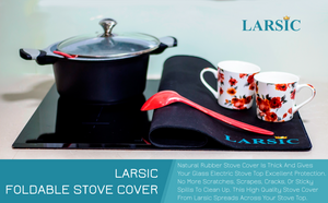 Electric , Induction Glass Stove Cover - Protects from Scratches, Dirt, Extending Your Kitchen Space, The Best Design