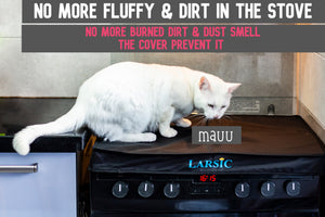 Gas Stove Burner Cover, Large, Trendy Dust and Cat Hair Surface Protection for Modern Kitchens, Flat Serving or Food Prep Area, Foldable and Portable Design