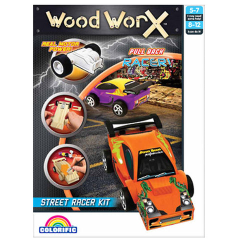 Pull Back Racer Street Car - Wood Worx