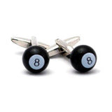 Black 8 Ball Men's Cufflinks