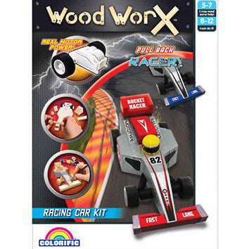 Pull Back Racer Racing Car Kit - Wood Worx