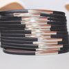 Leather Look Cuff Bracelet