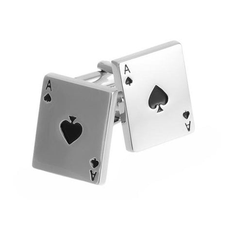 Lucky Charm Playing Cards Men's Cufflinks