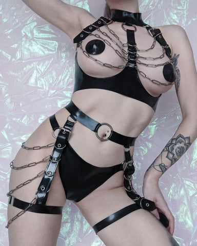 Lucifer Harness Top - Latex