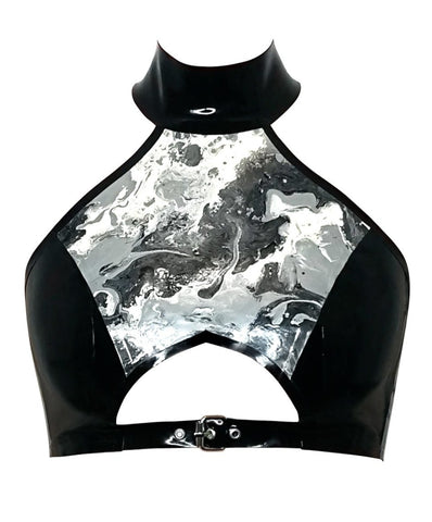Neptune Marble Halterneck Top - Latex