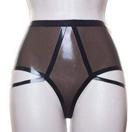 Bound High Waisted Knickers - Latex